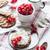 rouge · blanche · émail · mug · fraîches · naturelles - photo stock © manera