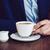 adam · kafe · işadamı · mavi · ceket · fincan - stok fotoğraf © manera