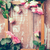 pink roses and a wooden frame stock photo © manera