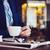 işadamı · mavi · ceket · fincan · kahve - stok fotoğraf © manera