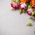 multicolored roses on gray linen fabric stock photo © manera