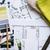 cetvel · planları · mimari · çizimler · sanayi · hesap · makinesi - stok fotoğraf © manera