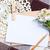 boş · karton · kart · çiçekler · zarf · kumaş - stok fotoğraf © manera