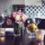 eettafel · ingesteld · bloemen · kaarsen · bril · interieur - stockfoto © manera