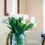 белый · тюльпаны · букет · интерьер · комнату - Сток-фото © manera