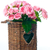 bouquet of pink roses in a wicker basket stock photo © manera