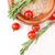 fresche · cibo · vegetariano · pomodori · riso · rosmarino · legno - foto d'archivio © manera