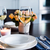 eenvoudige · home · tabel · bril · bestek · rozen - stockfoto © manera