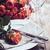 renkli · plakalar · beyaz · ahşap · masa · bo · gıda - stok fotoğraf © manera