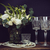bouquet of white flowers pearl beads and wine glasses on a blac stock photo © manera