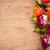 tarka · rózsák · fa · deszka · gyönyörű · virágcsokor · közelkép - stock fotó © manera