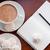 kávé · jegyzettömb · csésze · asztal · otthon · notebook - stock fotó © manera