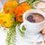 friss · alma · sütemények · kávé · reggeli · sajt - stock fotó © manera