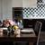 mesa · de · jantar · conjunto · flores · velas · óculos · interior - foto stock © manera
