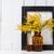 tavaszi · virágok · lakberendezés · citromsárga · klasszikus · üveg · fehér - stock fotó © manera