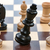 blanche · chevalier · noir · pièces · d'échecs · échiquier · mise · au · point · sélective - photo stock © manfredxy