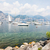 ボート · ガルダ湖 · イタリア · 海 · 教会 - ストックフォト © manfredxy