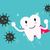 superhero healthy tooth attack bacteria and germ stock photo © mangsaab