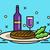 steak and wine.  stock photo © mangsaab