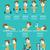 testmozgás · fitnessz · infografika · karakter · terv · étel - stock fotó © mangsaab