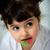 kleines · Mädchen · Porträt · Essen · isoliert · weiß · Mädchen - stock foto © Marcogovel