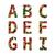 renkli · el · alfabe · dizayn · boya · yeşil - stok fotoğraf © margolana