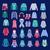 tél · ruházat · gyűjtemény · cipők · rajz · grafikus - stock fotó © margolana