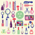 Vector Icon Set ofCosmetics, Make Up and Beauty objects stock photo © Margolana