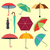 collection of different fashion umbrellas in flat style  stock photo © margolana