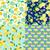 set of background with lime lemon slices and lemon leaves stock photo © margolana