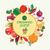 vegetáriánus · étel · minta · gyümölcs · zöldségek · alma · egészség - stock fotó © margolana