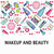 vector pattern of make up beauty and healthy cosmetic product stock photo © margolana