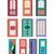 vector · gebouwen · ingesteld · ontwerp · huizen · geïsoleerd - stockfoto © margolana