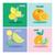 vector set of four icon lemons and orange illustration stock photo © margolana