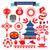 Kína · ikonok · minta · eps · 10 · étel - stock fotó © margolana
