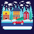 Noel · kar · taneleri · dizayn · kar · arka · plan - stok fotoğraf © margolana