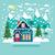 coberto · neve · ilustração · inverno · paisagem - foto stock © margolana