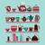 set of tea collection with a tea pot tea cup jars jugs on the stock photo © margolana