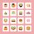 ícones · comida · beber · forma · de · coração · fruto · restaurante - foto stock © margolana