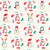 pattern with cute snowmen and mitten stock photo © margolana