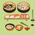 vector food background  japanese food stock photo © margolana