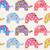 colorat · drăguţ · elefantii · vector - imagine de stoc © margolana