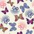 sem · costura · textura · borboletas · bonitinho · vintage · ilustração - foto stock © margolana