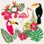 set of summer tropical graphic elements stock photo © margolana