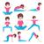 yoga · meisje · ingesteld · opleiding · mooi · meisje - stockfoto © margolana