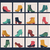 collection of shoes on shelves of shop stock photo © margolana