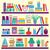 livros · coleção · colorido · branco · escritório · escolas - foto stock © margolana