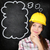 thinking construction worker girl on chalkboard stock photo © maridav