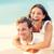 love   happy couple on beach having fun piggyback stock photo © maridav