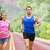runners couple in jogging exercise outside stock photo © maridav